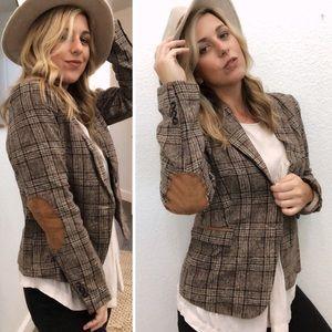 Jackets & Blazers - PLAID Blazer \SCHOOLBOY Elbow patch